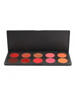 10 Shade Standard Lipstick A