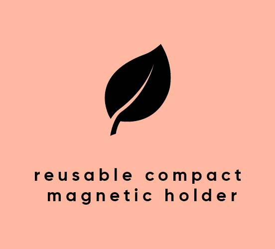 reusable compact magnetic holder